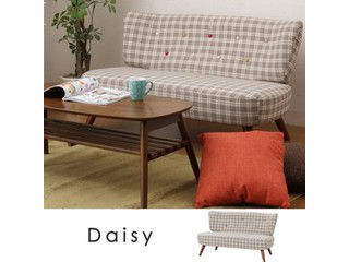 【人気商品!】【Daisy/デイジー】ファブリックソファ2pチェック31032
