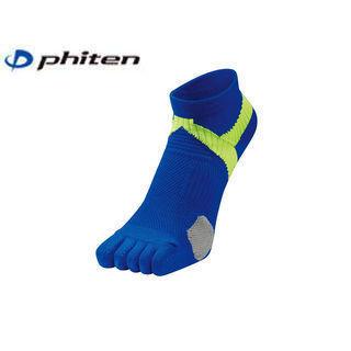 Phiten/ファイテン AL926673 ファイテン足王(ソッキング) 5本指タイプ  (ブルー×イエロー)