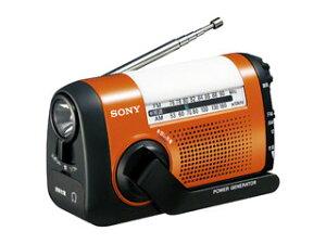 iPhoneなどのスマートフォンや携帯電話に充電もできる。ソフトライトを搭載した手回し充電ラジ...