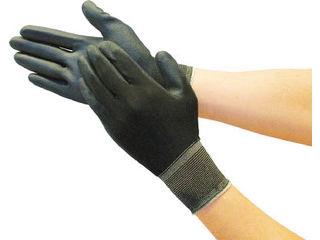 TRUSCO/トラスコ中山 カラーナイロン手袋PU手のひらコート ブラック M TGL-3535-BK-M
