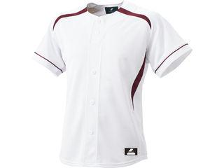 SSK/エスエスケイ BW0901-1022 ダミーオープンプレゲームシャツ 【O】 (ホワイト×エンジ)
