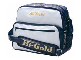 HI-GOLD/ハイゴールド HB-8800 エナメルショルダーバッグ ミディアムサイズ 【20L】(ホワイト×ネイビー)