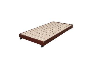 【パインフレームのすのこペアベッド】下段ベッドシングルサイズJNL-100PBブラウン