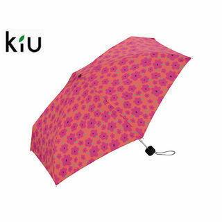 kiu/キウ K33-043 折りたたみ傘 手開き 日傘/晴雨兼用 タイニー シリコン 全12色 軽量 【50cm】 (ハナ ピンク )