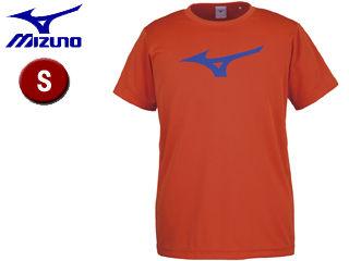 mizuno/ミズノ 32JA8155-54 BS Tシャツ ビッグRBロゴ 【S】 (フレイムオレンジ×ブルー)