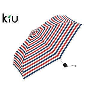 kiu/キウ K33-122 折りたたみ傘 手開き 日傘/晴雨兼用 タイニー シリコン 全12色 軽量 【50cm】 (トリコロール)