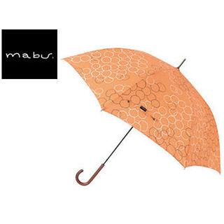 mabu world/マブワールド MBU-MLJ08 長傘 ジャンプ 日傘/晴雨兼用傘 レジェ ワンタッチスリム 全16色 58cm (バブルオランジュ)