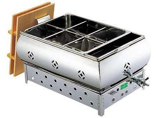 EBM 【業務用】EBM 18−8 湯煎式 おでん鍋 尺5(45cm)13A eb-0885220:ムラウチ
