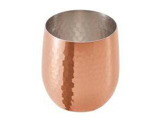 アサヒ 食楽工房 銅 ロックカップ ダルマ 340ml ミラー仕上 CNE960