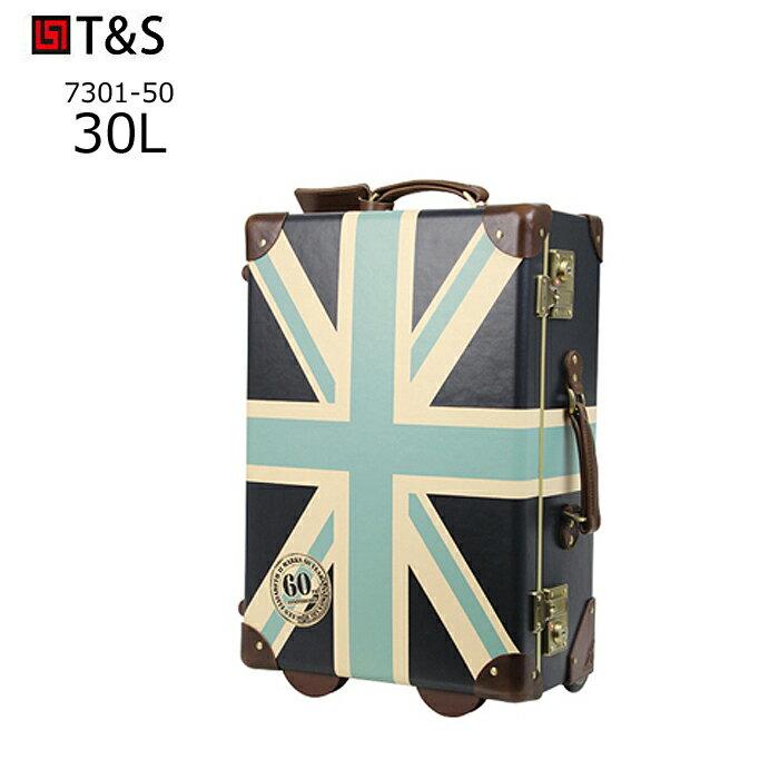 World Trunk/ワールドトランク 7301-50-GY スタンプ柄トランクキャリー 【30L】(ユニオンジャックグレイ) T&S(ティーアンドエス)メーカー在庫限り 旅行 スーツケース キャリー 機内持ち込み 小さい 国内 Sサイズ おしゃれ かわいい
