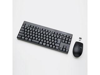 ELECOM/エレコム 2.4GHzワイヤレスコンパクトキーボード&マウス ブラック TK-FDM086MBK
