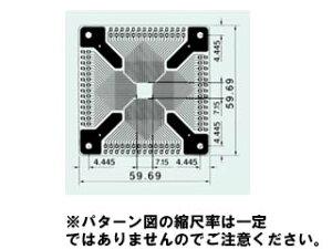 0.65mmピッチ40〜112ピン用Sunhayato/サンハヤト QFP-61 QFP IC変換基板