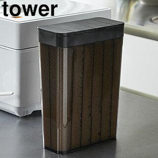 Yamazaki/山崎実業 3761 1合分別 冷蔵庫用米びつ タワー ブラック