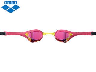 arena/アリーナ くもり止めスイムグラス クッションタイプ COBRA ULTRA ミラー加工 (ピンク×マゼンタ×イエロー)