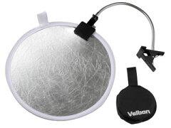 携帯に便利な30cm径の丸レフと、専用クリップのセットVelbon/ベルボン レフ板&クリップセット