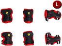 FERRARI/フェラーリ Ferrari Skate Protector Set FAP3 Lサイズ (ブラック) 36762