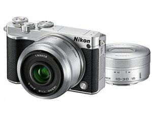 【送料無料】【smtb-u】ニコン Nikon 1 J5 ダブルレンズキット シルバー