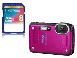 【送料無料】【smtb-u】OLYMPUS/オリンパス Tough TG-620(ピンク)と8GB SDHCカードのお買い得...