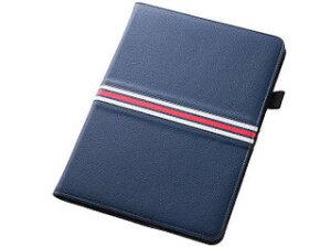 レイ・アウト iPad Air 2用 フラップ・トリコロール・レザージャケット(合皮)/ネイビー RT-PA6LC4/N 納期にお時間がかかる場合があります