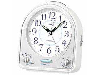 SEIKO/セイコークロック NR435W 目ざまし時計 (ホワイト) ライト /ルミブライト(時分針)/31曲メロディ