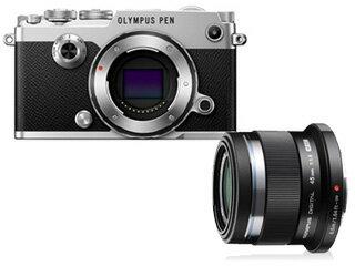 OLYMPUS/オリンパス OLYMPUS PEN-F ボディ(シルバー)+M.ZUIKO DIGITAL 45mm F1.8(ブラック)セ...