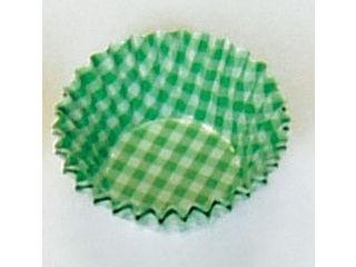 オーブンケース チェック柄(250枚入)/5号深口 緑