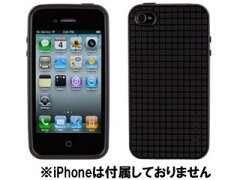 厚めのシリコン製ケース。Speck SPK-PIXELSKNHD-IP4-B iPhone 4 PixelSkin HD Black