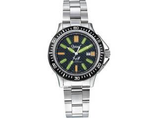 オジバル オジバル ダイバーズ腕時計 ブラック  P−8003MS−B:ムラウチ