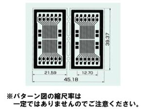 0.8mmピッチMAX.24ピン用Sunhayato/サンハヤト SSP-81 SOP IC変換基板