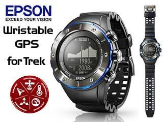 【nightsale】 EPSON/エプソン MZ-500MS Wristable GPS for Trek GPSトレッキングギア (マウンテンサファイア):ムラウチ