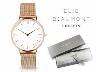 ELIE BEAUMONT/エリー ビューモント EB805LM1 Oxford Small Mesh 腕時計【ローズゴールド】