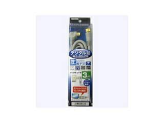 YAZAWA YAZAWA 地デジ対応アンテナコード(片側接栓タイプ) 3m S4CFL030SS