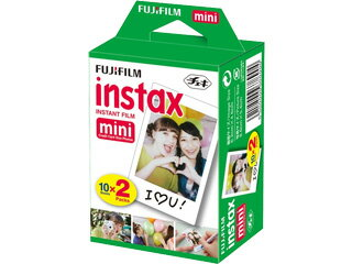 インスタントカラーフィルムinstaxmini光沢面2パック(10枚入×2)チェキ用フィルム