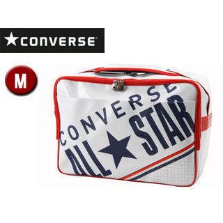 CONVERSE/コンバース C1612053-1129 エナメルショルダーバッグ 【M】 (ホワイト×ネイビー)
