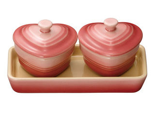 【le-stoneware】 LE CREUSET/ル・クルーゼ ミニチュア・ラムカンダムール・セット/910384−00 ローズQ