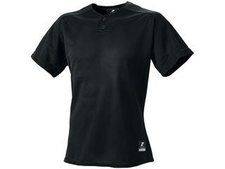 SSK/エスエスケイ BW1660-90 2ボタンプレゲームシャツ(無地) 【S】 (ブラック)