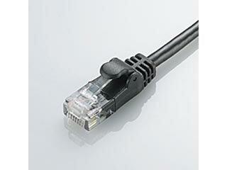 ELECOM エレコム LD-CTY/BK5 CAT5E準拠 やわらかLANケーブル 5m ブラック画像