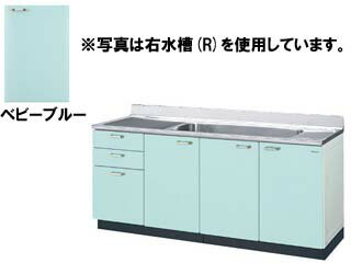 LIXIL/リクシル 【sunwave/サンウエーブ】GPB-S180JAT GPシリーズ 大型一槽流し台 180cm (ベビーブルー) 左水槽:ムラウチ