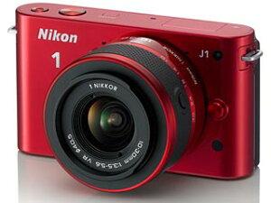 【送料無料】【smtb-u】Nikon/ニコン NIKON1 J1標準レンズキット(レッド) 【送料代引き手数...
