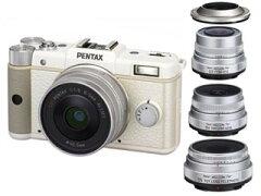 【送料無料】【smtb-u】PENTAX/ペンタックス PENTAX Q(ホワイト)+魚眼/広角/望遠レンズ+レン...