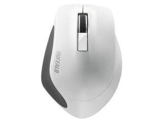 BUFFALO/バッファロー 無線 BlueLED 3ボタン プレミアムフィットマウス ホワイト BSMBW300MWH