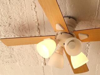 シーリングファンライトWindouble(4-lights)BIG-101-WH(電球及び電池別売)