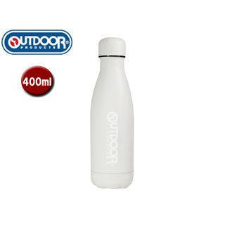 OUTDOOR PRODUCTS/アウトドアプロダクツ 314-472 ステンレス ボトル 保温保冷 水筒(直飲み) 【400ml】 (オフ ホワイト)