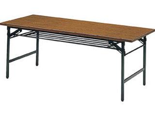 【】折りたたみ会議テーブル1500X900XH700チーク/1590(1500X900)(チーク)
