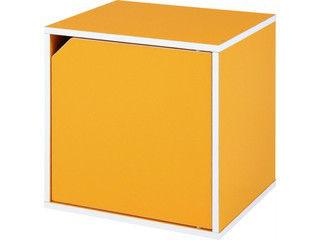 【納期未定】 FBC/不二貿易 キューブボックス 扉付 オレンジ CB35DR(OR) 92108