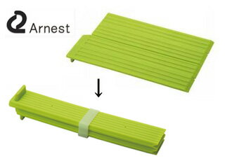 【nightsale】 Arnest/アーネスト 折りたたみシリコン水切りプレート 〔グリーン〕 【arnestsili】