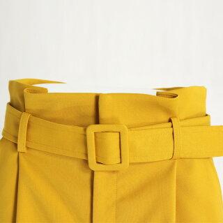 ベルト付きハイウエストタックパンツ(チェリーピンク/Mサイズ38/Q-0760)CEIRATE/セラッテ