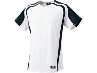 SSK/エスエスケイ BW0906-1090 1ボタンプレゲームシャツ 【XO2】 (ホワイト×ブラック)