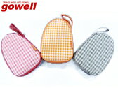 gowell/ゴーウェル 3518 パステルチェックスリッパ (レッド)