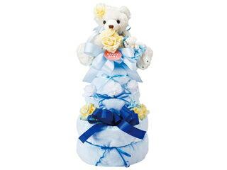 ゆうわ ハッピーベビー 201310000B(ブルー) おむつケーキ3段 ブルー 【omutucake】【出産祝い】【babygift】【贈り物】